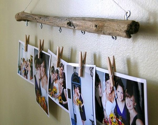 A vintage fishing rod becomes an eye catching picture frame hanger. Description from pinterest.com. I searched for this on bing.com/images
