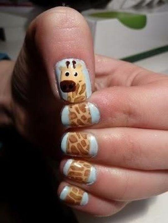 i want.Giraffes Giraffes, Giraffes Nails, Nails Art, Nailart, Cute Nails, Nails Design, Giraffe Nails, Beautiful, Hair