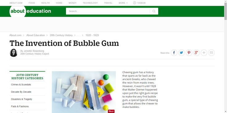History of Bubble Gum and Chewing Gum