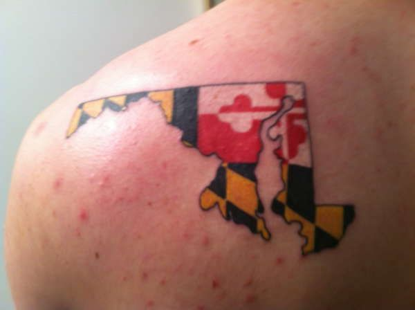 Gallery For > Maryland Flag Tattoo