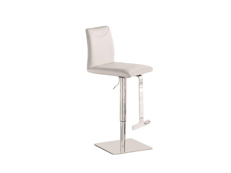Casabianca TITO Italian White Leather Bar Stool | Products | Pinterest | White leather bar stools Leather bar stools and Bar stool  sc 1 st  Pinterest & Casabianca TITO Italian White Leather Bar Stool | Products ... islam-shia.org