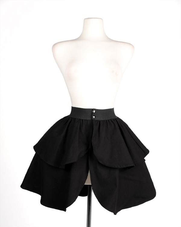 Black Canvas Underskirt with Elastic band and snaps    Pinup Girl's new Black Canvas Underskirt was inspired by the underpinnings that Dior created in the 40's and 50's, and it's designed to add fullness to skirts without adding bulk in front. We recommend this with dresses like the Nicole, Birdie & Heidi among many others. Tell us what you would pair it with!