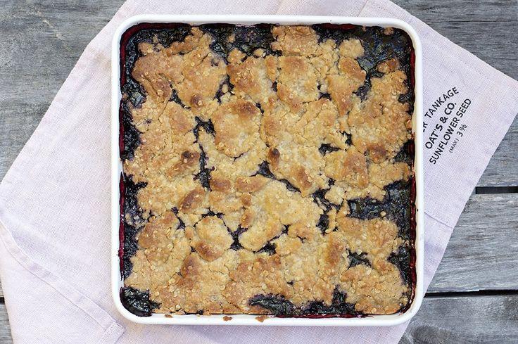Smuldrepai med blåbær – Fru Timian