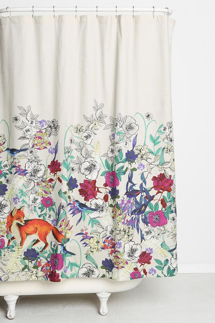 Plum coloured bathroom accessories - Plum Bow Forest Critters Shower Curtain