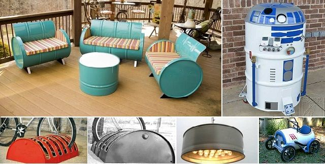 Over 20 Cool DIY Projects to Make Using 55 Gallon Drums - http://www.diyave.com/over-20-cool-diy-projects-to-make-using-55-gallon-drums/