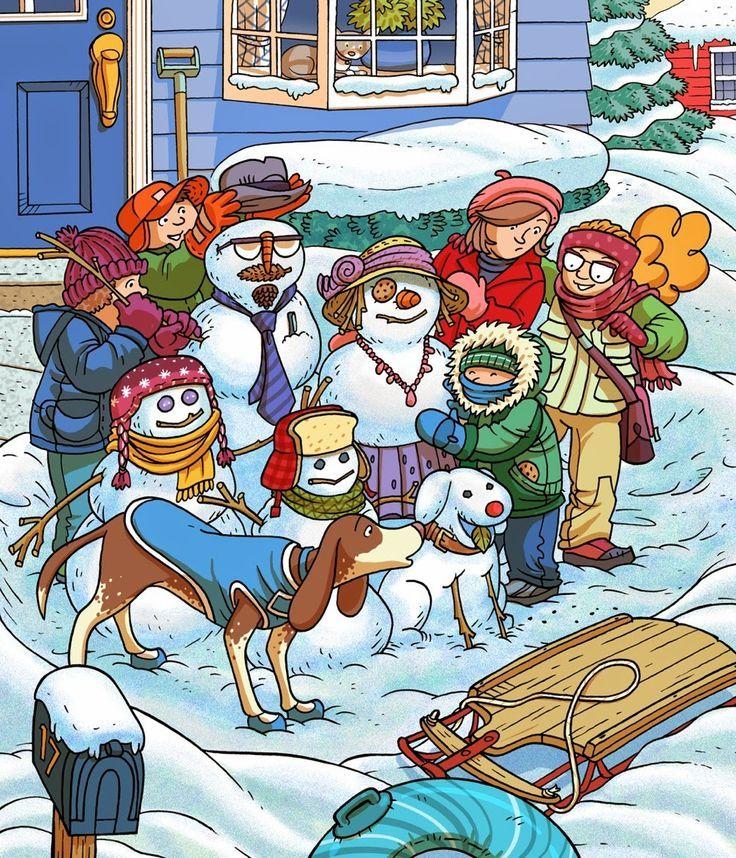 blog 30 x 30: Heidi and Zeke snowman and soccer help!