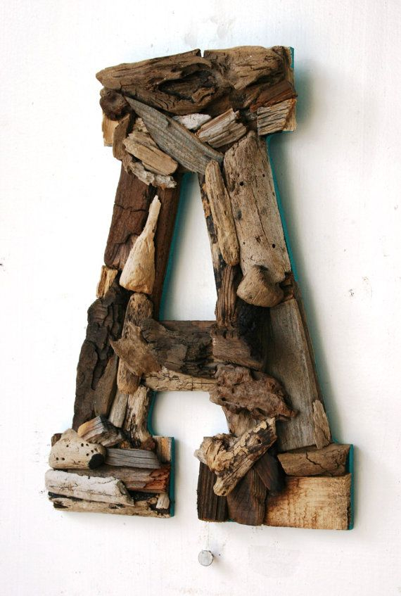 Custom Driftwood LettersCoastal Home Decor by PeaceLoveDriftwood, $34.00