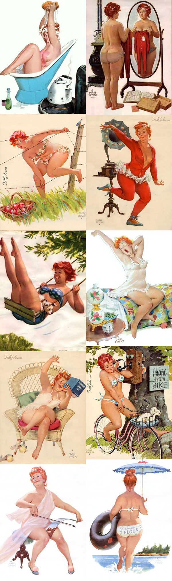 Hilda... our original Plus Size Pinup... 40's era men liked big legs and hips... they knew what hot was.