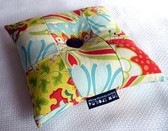 pincushion, heather bailey fabric