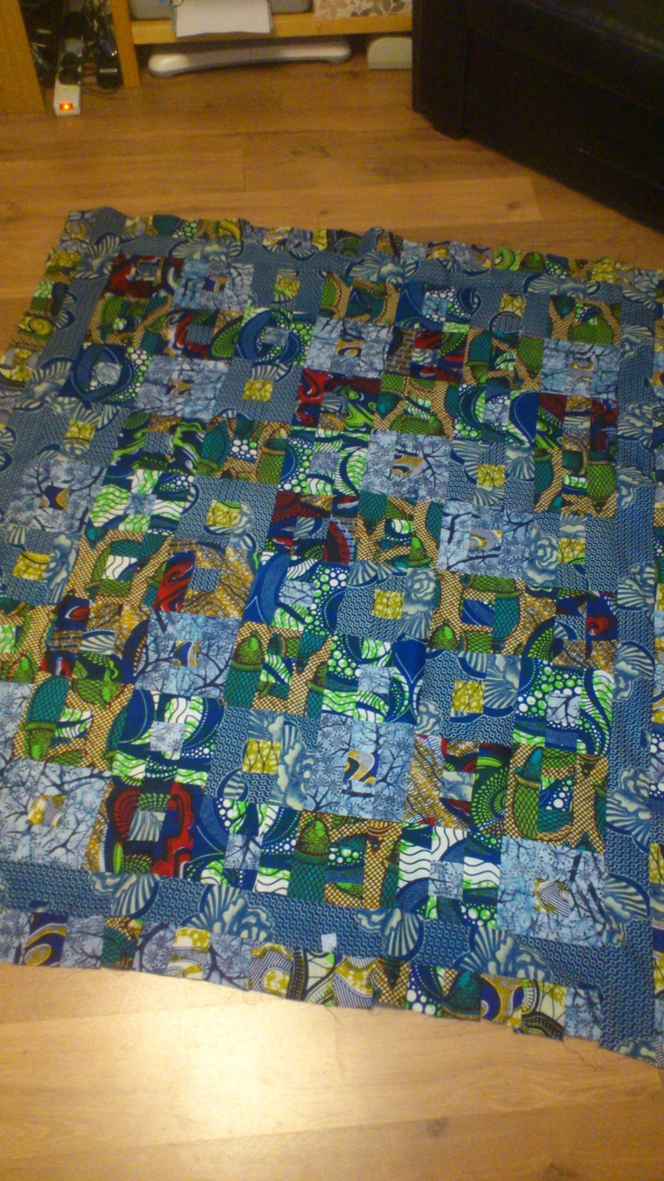 African Quilt - made with the fabrics I brought back from ...