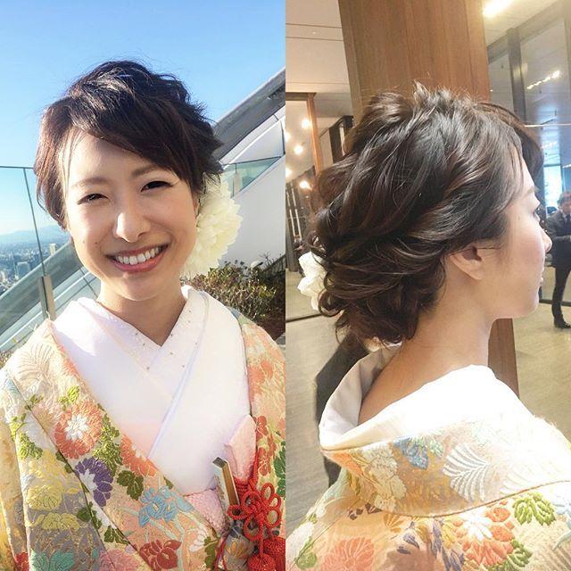 *** . 先日はインスタグラムから . お問い合わせくださいました . あかりさんのウェディングでした . 和装がなんともお上品で素敵 . ご担当させて頂き . ありがとうございました✨ . 末永くお幸せに .  #プレ花嫁#カラー診断 #骨格診断 #ヘアスタイル#花嫁髪型 #結婚式髪型#アンダーズ東京 #ヘアメイクリハーサル #美容師#美容室#ハワイ婚 #2018年春婚#2018秋婚  #ブライダル#ブライダルヘア #結婚式髪型 #アクセサリー#ヴィザジスト #ウェディングドレス #結婚式#結婚式準備 #メゾンドブランシュ #wedding #hairstyle #make #bridal#美容 #ホテル婚 #メイク#ヘアアレンジtomoko_make アンダーズ東京