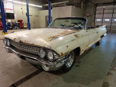 Cadillac Convertible 1961 Barn Find Hidden For 25 Years Factory A