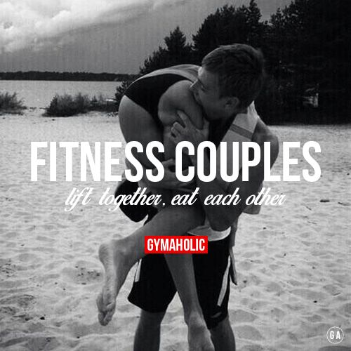 Fitness Couples, Eat Each Other.  You're partner is so damn FIT that you want to eat her GAINS!  http://www.gymaholic.co/fitness . www.creatina10.com #fit