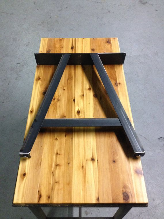 *28h x 24w sets are in stock and ready to ship!*  Up for sale are handmade pairs of A Frame style table legs. Legs are made from welded 2 steel