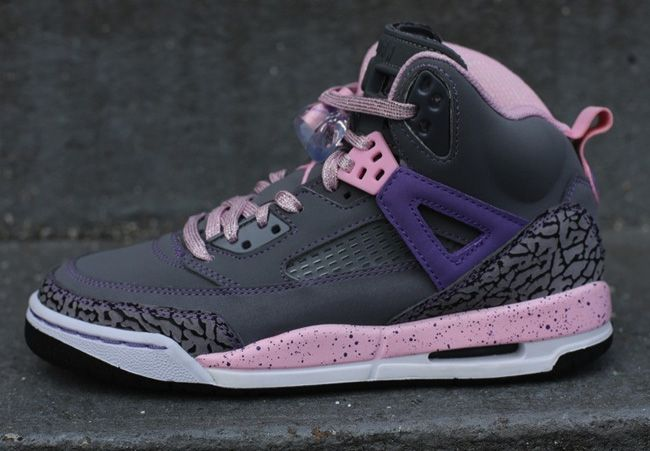 Jordan Girls Spizike GS   Cool Grey, Liquid Pink & Purple