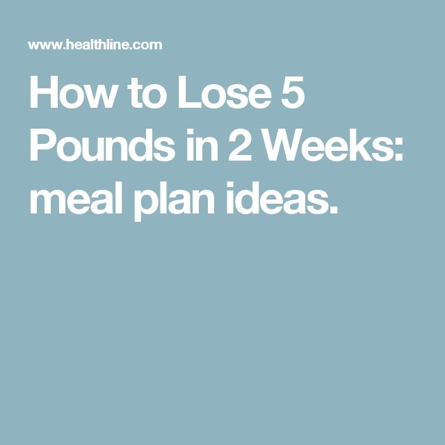 how to lose 5kg in 2 weeks meal plan