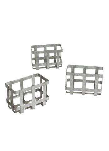 Metallkörbe geflochten 22x12x15 cm (B/T/H)