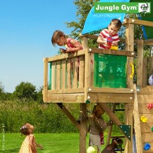 Balcony Module - A compact and effective addition to your wooden children's playhouse, offering excellent tactile and visual opportunities.