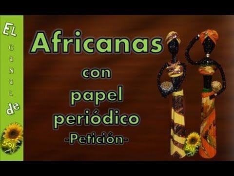 Návod na africkú ženu-z papiera.