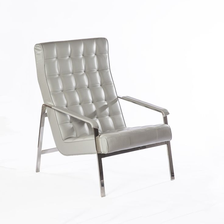 sean dix chicago lounge chair grey leather