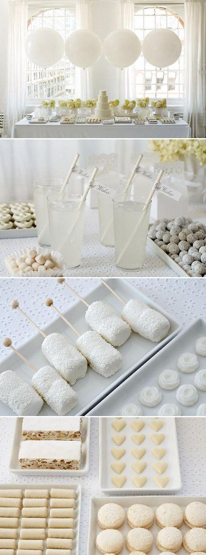Dessert Tablescape In White