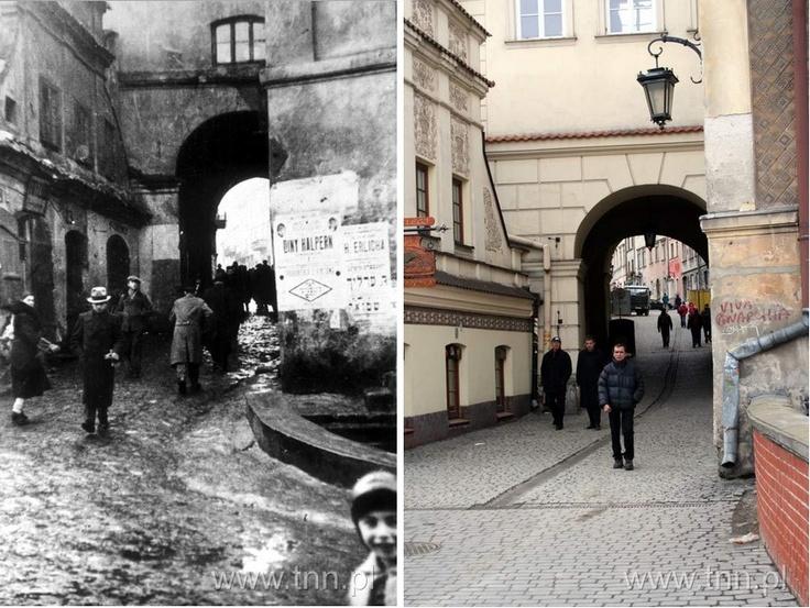 1933&2008 r. Brama Grodzka. Widok od strony dzielnicy żydowskiej.