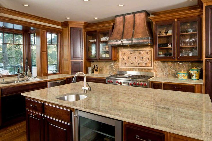 ASTORIA granite complements the darker cabinets. #LGLimitlessDesign #Contest