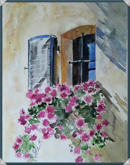 Flowers at the window.....