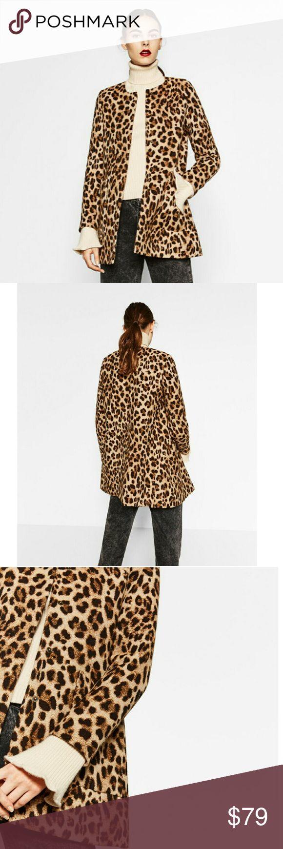 Zara Animal Print Frock Coat GORGEOUS !  New with tags.  No Trades! Zara Jackets & Coats