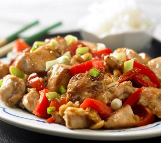 Kung Pao Chicken:  A homemade version of a famous Chinese restaurant dish.