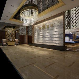 Lobby Light Fixture Flooring Wall Logo Interior Design