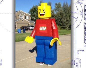 Lernprogramm: LEGO Kopf. Minifig-Kostüm. von BrackDaddyBrand