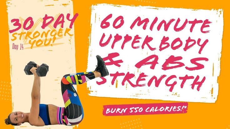 60 Minute Upper Body and Abs Strength Workout 🔥Burn 550