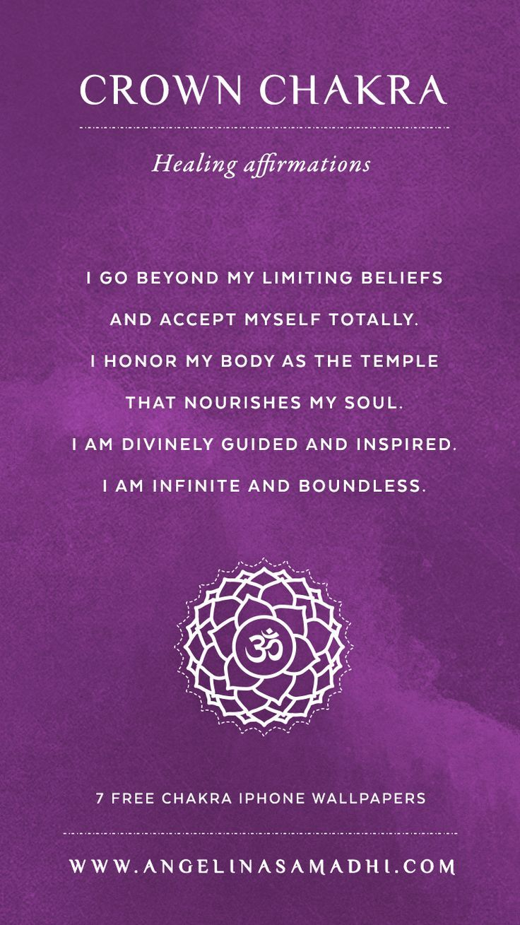 Crown Chakra Healing Affirmations – chakra affirmations, chakras, energy, healing, blockages, affirmations, positive affirmations, growth, om