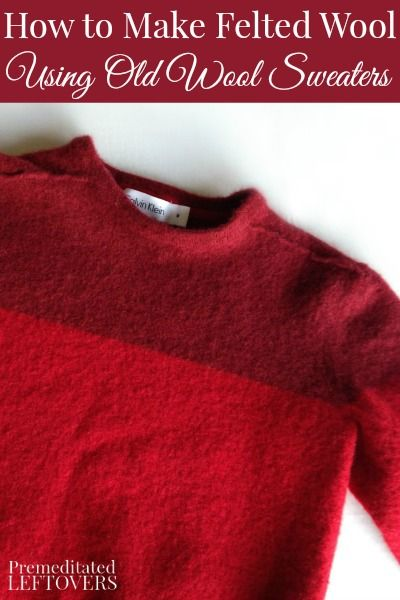 How to Easily Make Felted Wool from Old Sweaters - This is a simple tutorial for felting wool sweaters in the washing machine to use in sewing and DIY projects.