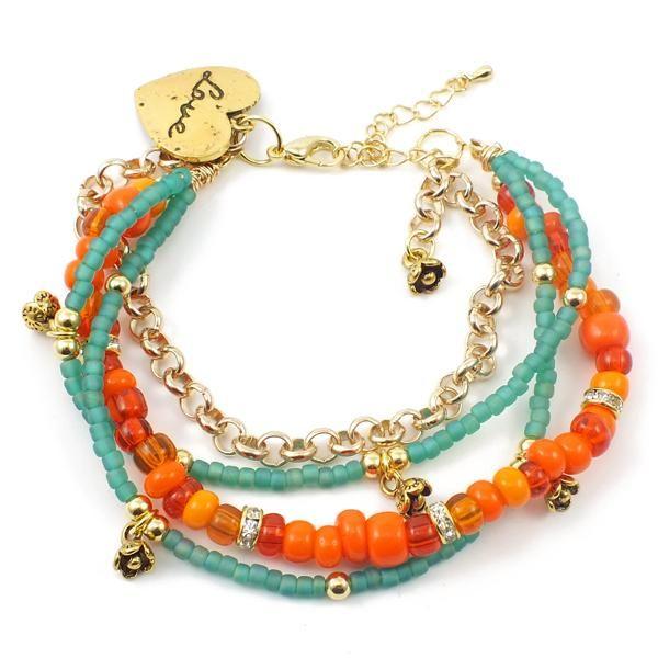 Like the mix of orange and turquoise