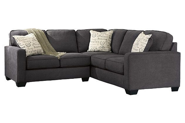 Gray Alenya 2-Piece Sectional by Ashley Furniture, Polyester/Nylon