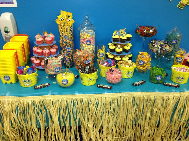 Spongebob candy table