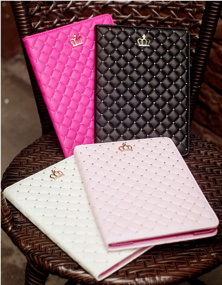 There are 4 color for your iPad Air 2 and iPad Air,Black, Pink, Rose red, White. With this luxury smart case, it will make your iPad Air look more beautiful.