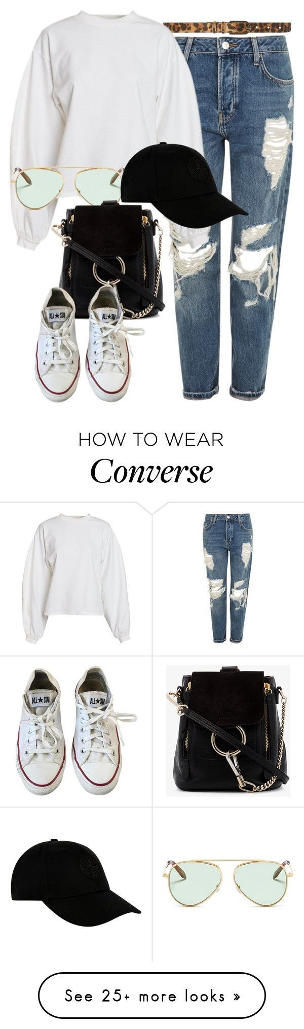 """""""Topshop x Chloe"""" by muddychip-797 on Polyvore featuring Topshop, Dorothy Perkins, NLY Trend, Victoria Beckham, Chloé, Converse, STONE ISLAND, casual, chloe and brunch #women'sfashiontrends"""