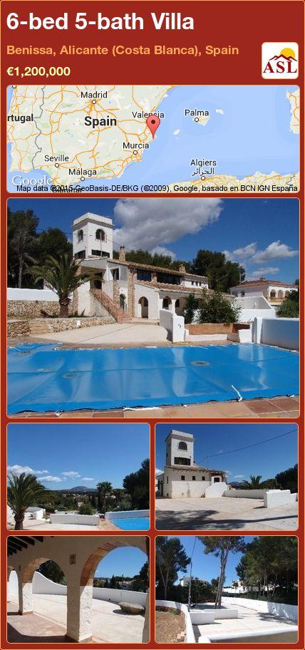 6-bed 5-bath Villa in Benissa, Alicante (Costa Blanca), Spain ►€1,200,000 #PropertyForSaleInSpain