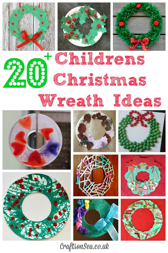 Here are plenty of holiday activities for kids that will produce pretty wreaths to make your home more festive this holiday. Childrens Christmas Wreath Ideas