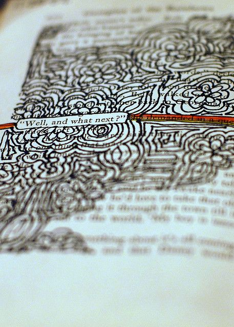 I love the idea of taking an old book and turning it into an art journal.