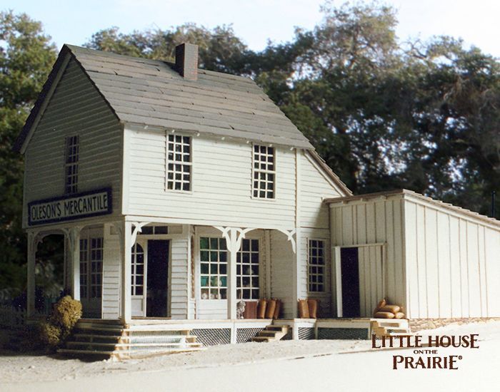 A large scale model of the oleson 39 s mercantile la for Little house on the prairie house plans