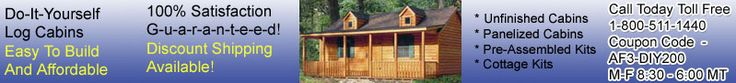Forester Custom Cabin Kit. Cabin kits for sale
