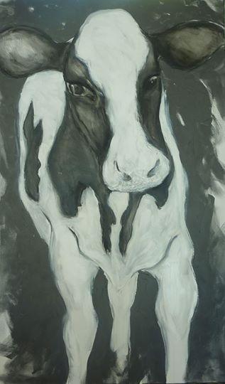 DAISY by CLARE WILCOX #clarewilcox #NZartist #cow #majubagallery #hanmersprings
