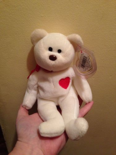 RARE Ty VALENTINO Beanie Baby 1993 Mint ~ Spelling Error On Tag!
