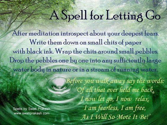 Spell for letting go