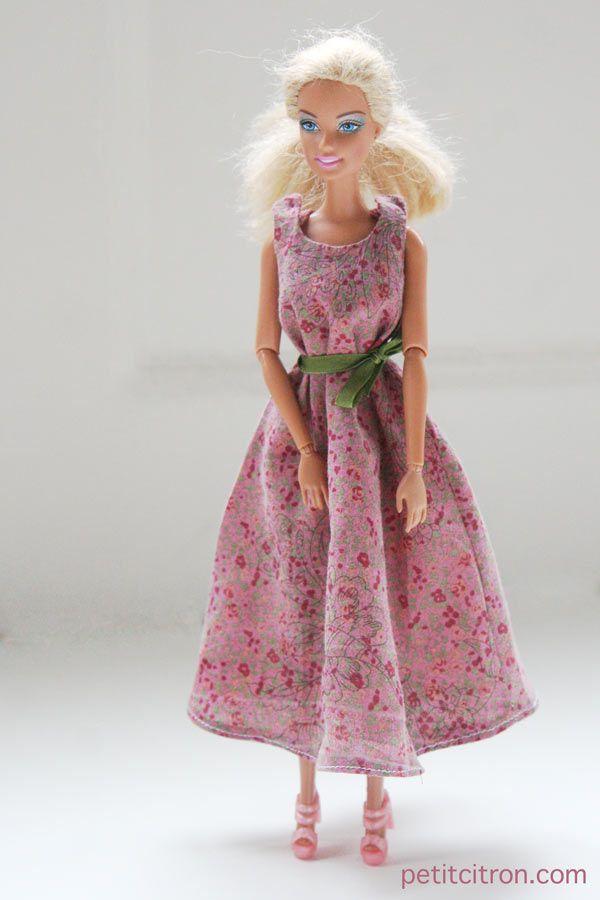 Nouveau patron pour Barbie : la robe longue et ample | tutoriels de couture | Blog de Petit Citron