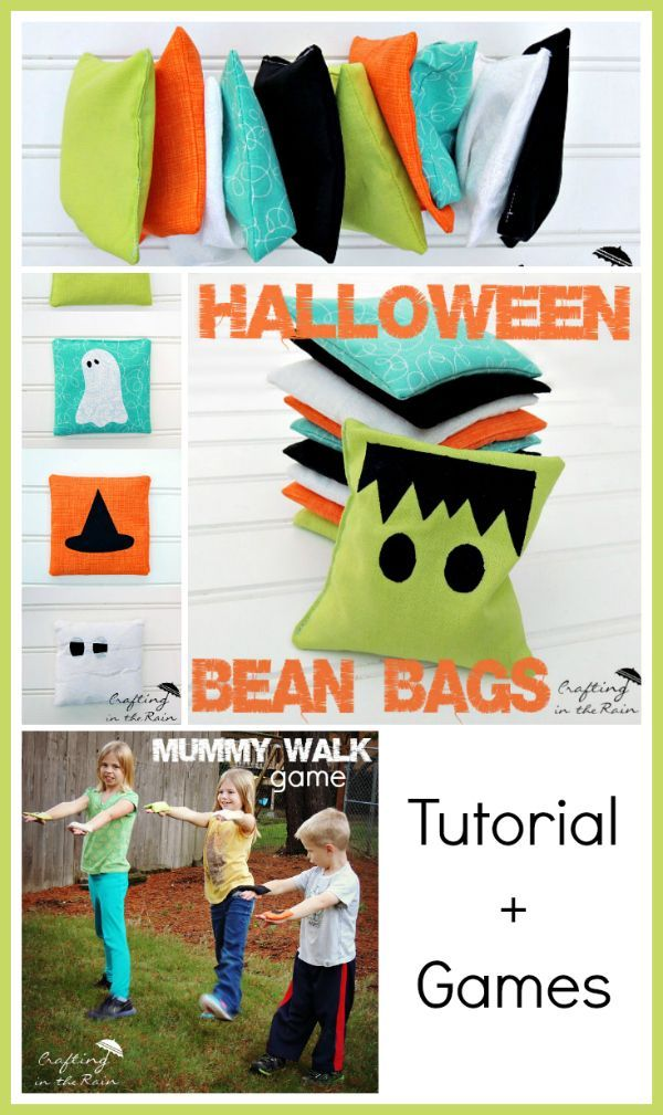 Craftaholics Anonymous® | How to make Bean Bags + Halloween Games